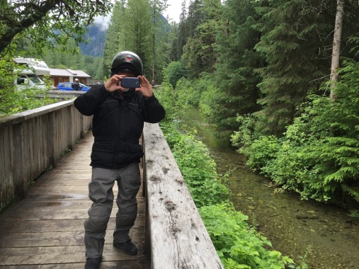 Location where photographers gather each July to photograph the bears eating salmon. We missed it by 3 weeks.