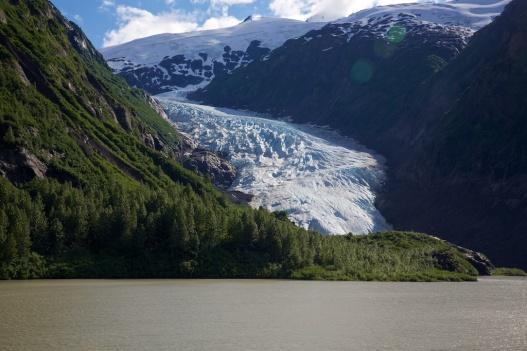Bear Creek Glacier seen as approaching Stewart