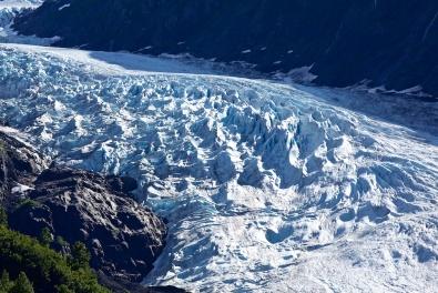 Bear Creek Glacier seen as approaching Stewart BC