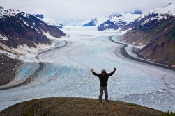 Rick standing on the top of the world at the Salmon Glacier BC