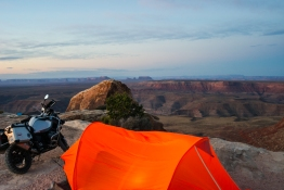 Muley Point view, Don's tent