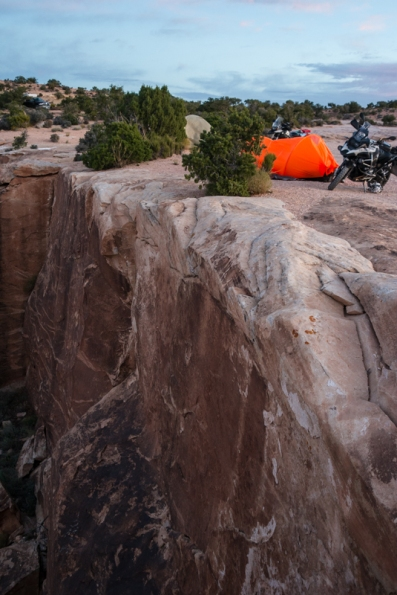 Muley Point Camping, Don's tent